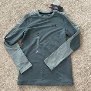 Under armourcold gear youth medium gray fitted nwt